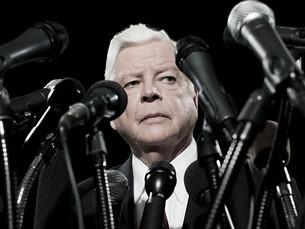 Politician and microphonesの写真素材 [FYI03467560]