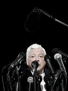 Politician giving speechの写真素材 [FYI03467562]