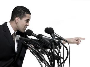 Politician giving speechの写真素材 [FYI03467584]