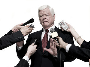 Politician and journalistsの写真素材 [FYI03467589]