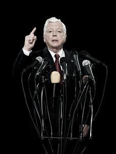 Politician giving speechの写真素材 [FYI03467598]