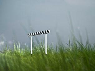 Hurdle in fieldの写真素材 [FYI03468665]