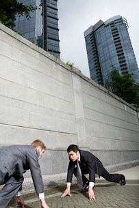 Rival businessmenの写真素材 [FYI03469596]
