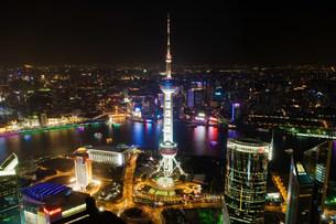 Oriental pearl tower shanghaiの写真素材 [FYI03469994]