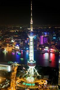 Oriental pearl tower shanghaiの写真素材 [FYI03470042]