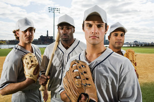Portrait of a baseball teamの写真素材 [FYI03470067]