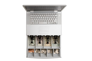 Laptop cash registerの写真素材 [FYI03470937]