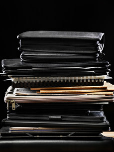 Stack of binders and filesの写真素材 [FYI03471171]