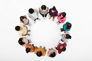 People in a circleの写真素材 [FYI03471764]