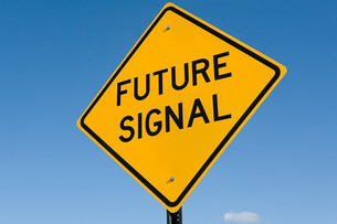 Future signal signの写真素材 [FYI03472035]