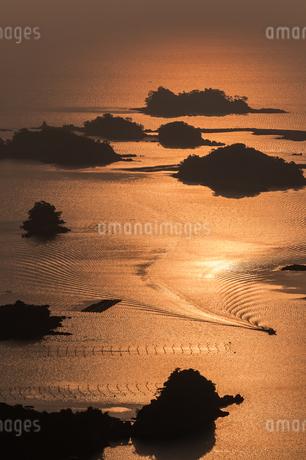 九十九島夕景の写真素材 [FYI03472574]