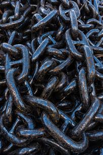 黒い鎖の写真素材 [FYI03472702]