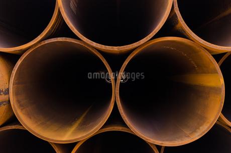 錆びた金属のパイプの写真素材 [FYI03472763]
