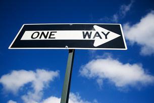 One way signの写真素材 [FYI03473122]