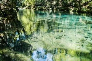 菊池渓谷の清流の写真素材 [FYI03473358]