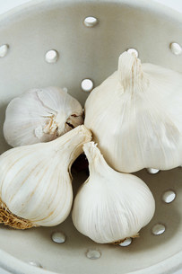 Bulbs of garlicの写真素材 [FYI03474458]