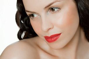 Young brunette woman,portraitの写真素材 [FYI03474782]