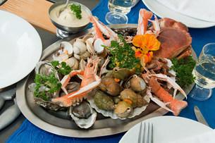 Seafood platterの写真素材 [FYI03475277]