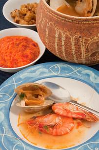 Bouillabaisse seafood stewの写真素材 [FYI03475284]