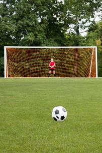 Goalkeeper and footballの写真素材 [FYI03476664]