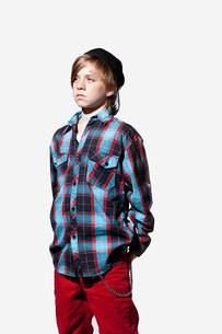 Portrait of a teenage boyの写真素材 [FYI03477125]