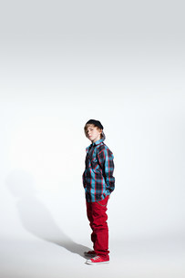Portrait of a teenage boyの写真素材 [FYI03477158]