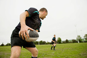 Rugby game in actionの写真素材 [FYI03478149]