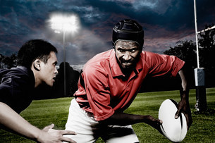 Rival rugby playersの写真素材 [FYI03479043]