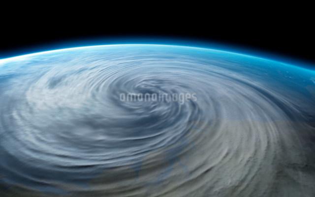 Hurricane on planet earthの写真素材 [FYI03479975]