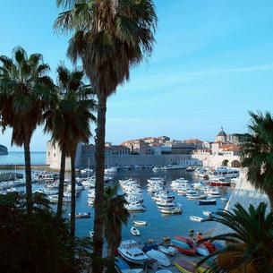 Boat marina, Dubrovnik, Croatiaの写真素材 [FYI03480006]