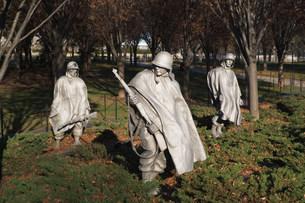 Korean War Veterans Memorial, Washington DC, USAの写真素材 [FYI03480153]