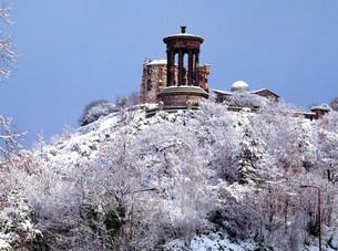 Calton Hill, Edinburgh, Scotlandの写真素材 [FYI03480280]