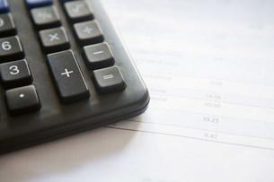 Calculator and billの写真素材 [FYI03480297]