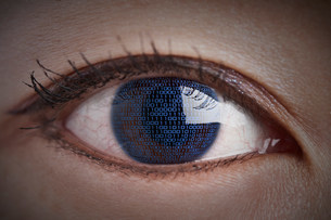 Binary eyeの写真素材 [FYI03481290]
