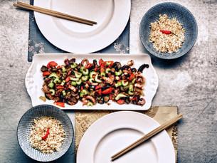Korean cuttlefish mealの写真素材 [FYI03482922]
