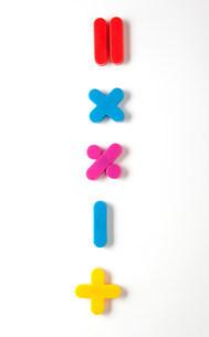 Mathematical symbol fridge magnetsの写真素材 [FYI03482984]