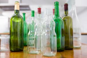 Still-life with empty bottlesの写真素材 [FYI03485023]