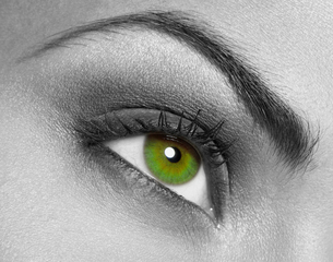Close-up of woman's eyeの写真素材 [FYI03485225]