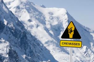 Danger Crevasses Signの写真素材 [FYI03485687]