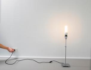 Lamp with energy saver light bulbの写真素材 [FYI03487906]