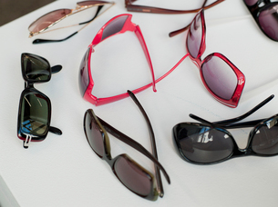 Assortment of sunglassesの写真素材 [FYI03488359]