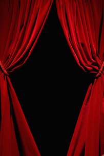 Red velvet curtainsの写真素材 [FYI03489548]