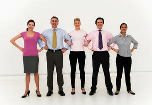 Confident business team unitedの写真素材 [FYI03491478]