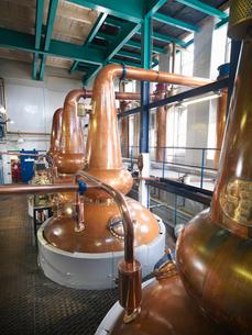 Whisky stills in distilleryの写真素材 [FYI03494463]