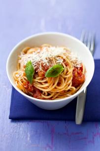 Spaghetti with tomato sauceの写真素材 [FYI03497237]