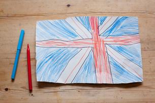 Drawing of British Union Flagの写真素材 [FYI03501811]