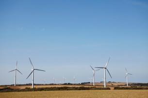 Wind farm Truro, Cornwall, England, UKの写真素材 [FYI03503396]
