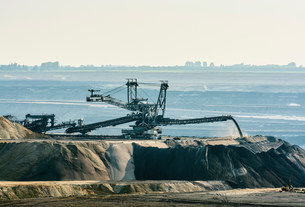 Brown coal opencast mine, Juchen, Germanyの写真素材 [FYI03503816]