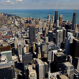 City of Chicago, elevated viewの写真素材 [FYI03505417]