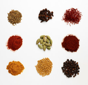 Selection of dried spicesの写真素材 [FYI03505935]
